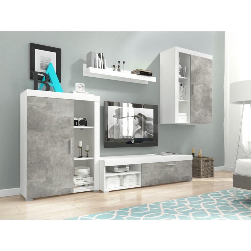 meblościanka OLI biały+beton