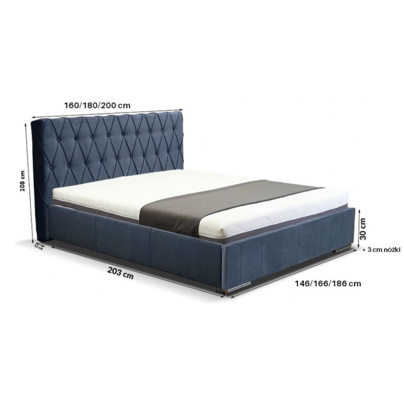 Łóżko tapicerowane Adrian