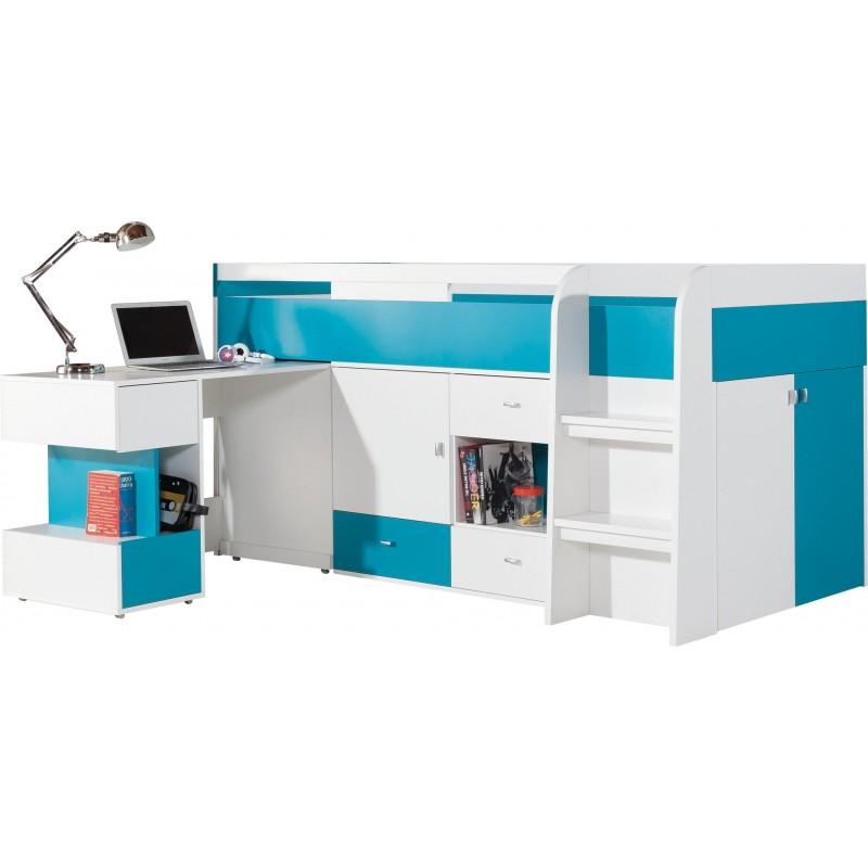 Łóżko z biurkiem Mobi MO 21