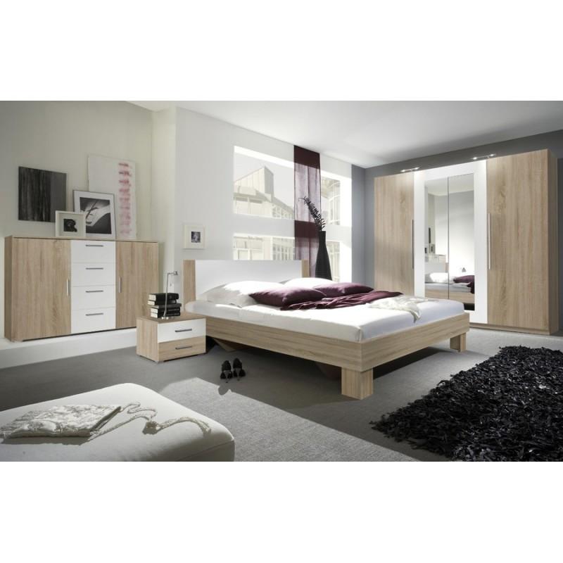 Sypialnia VERA biały + czarny orzech