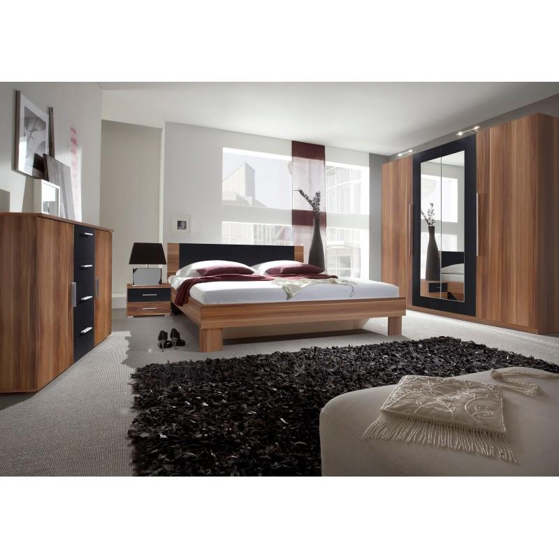 Sypialnia VERA czerwony orzech + czarny