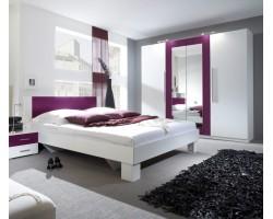 Sypialnia VERA II biały + lila