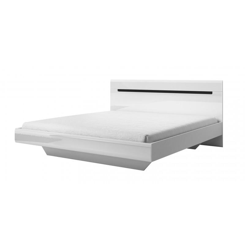 Łóżko HEKTOR biały + biały połysk