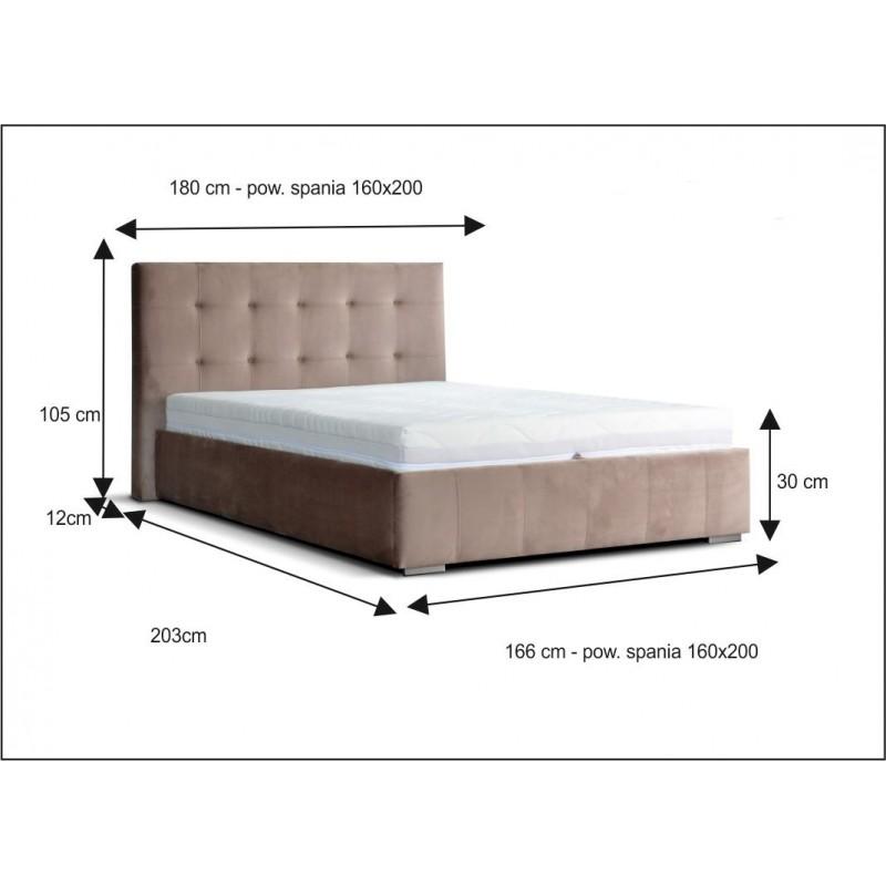 Łóżko tapicerowane Natan