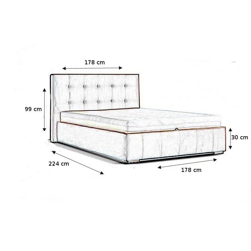 łóżko tapicerowane Olymp