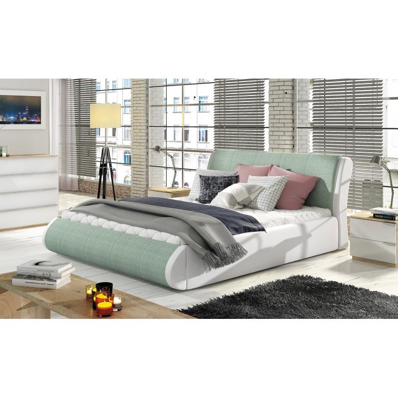 łóżko tapicerowane Tesla