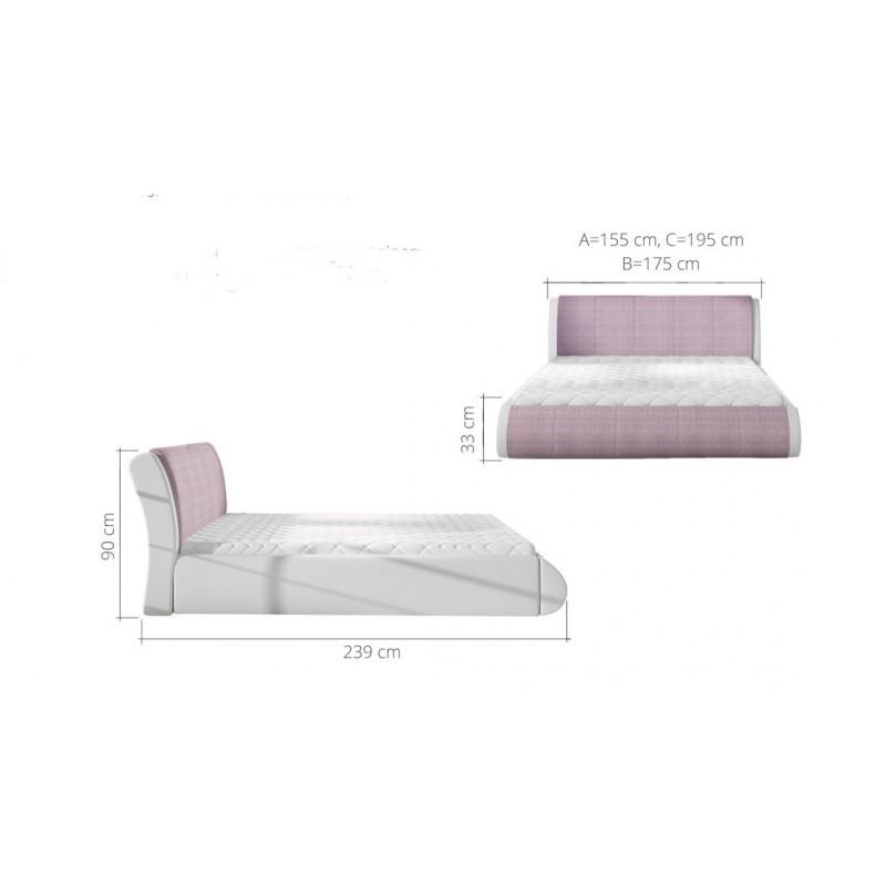 łóżko tapicerowane Tessa