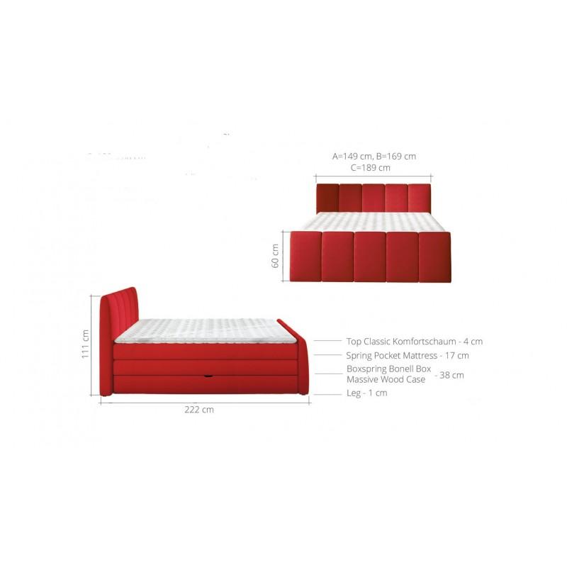 łóżko kontynentalne FRESCO