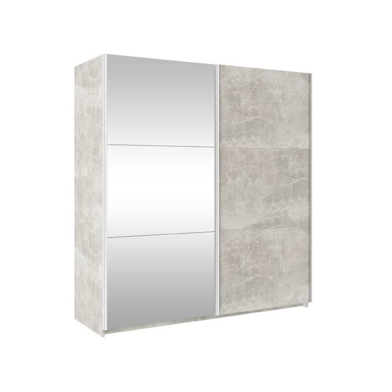 Szafa TREND 170 Beton + lustro