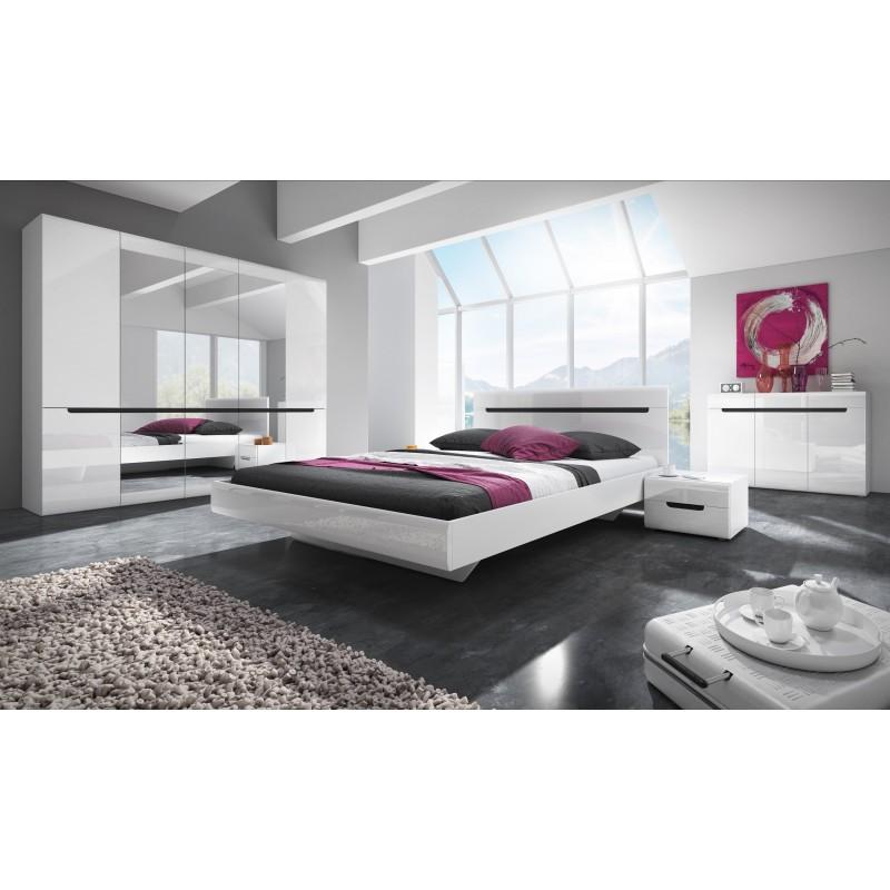 Sypialnia HEKTOR dąb sonoma ciemny + sand grey połysk