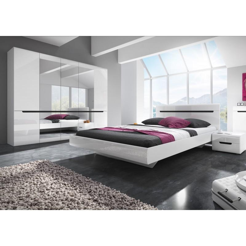 Sypialnia HEKTOR biały + biały połysk