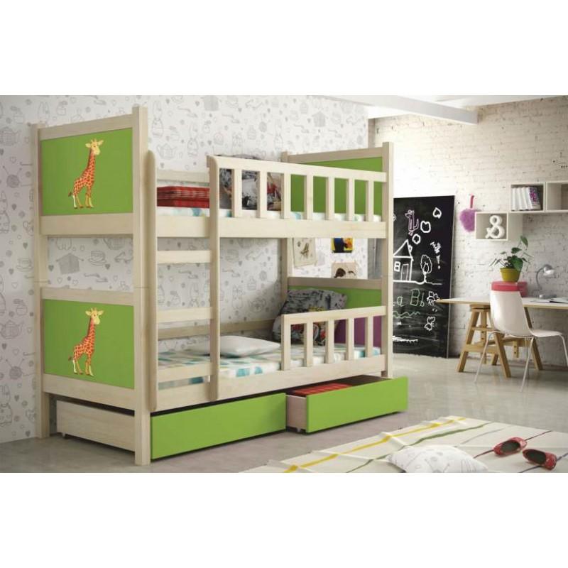Łóżko dziecięce piętrowe Pinokio 2