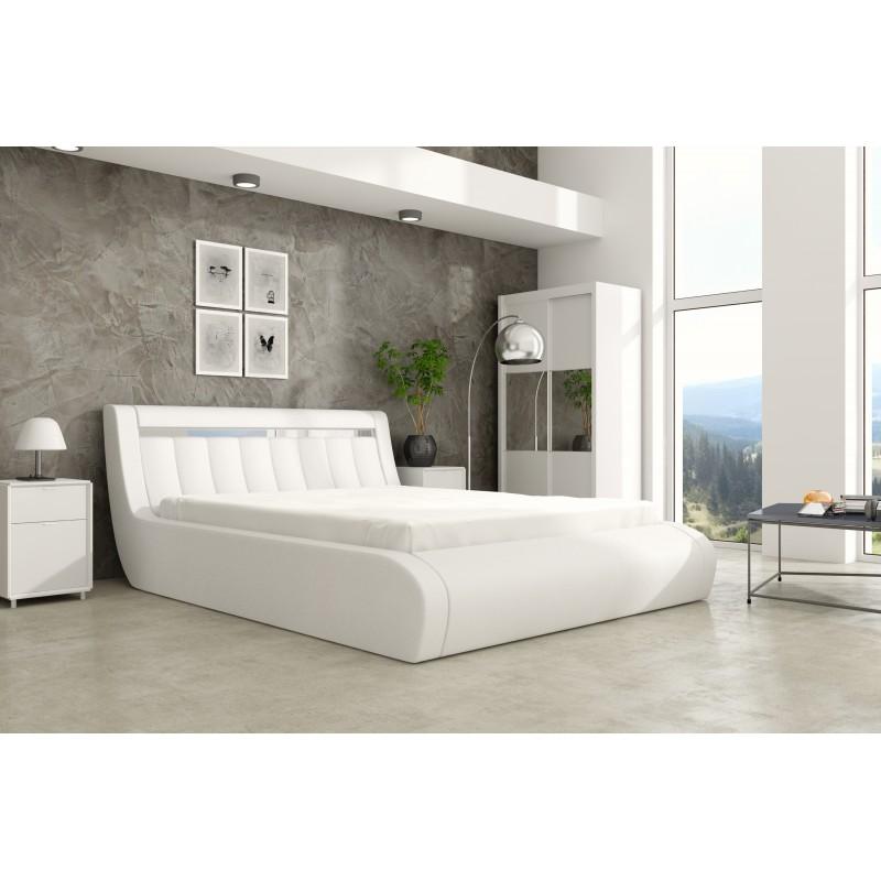 łóżko tapicerowane Rico