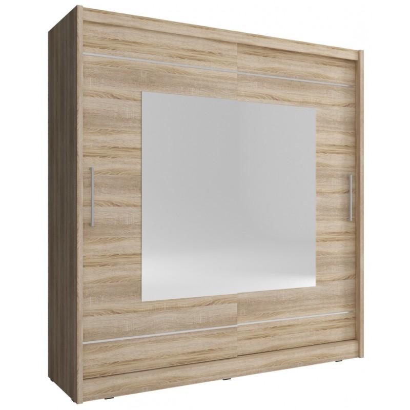 Szafa KAJA IX 200 biała z lustrami
