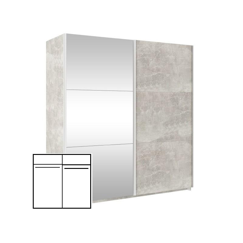 Szafa KOMBI 170 Beton + lustro