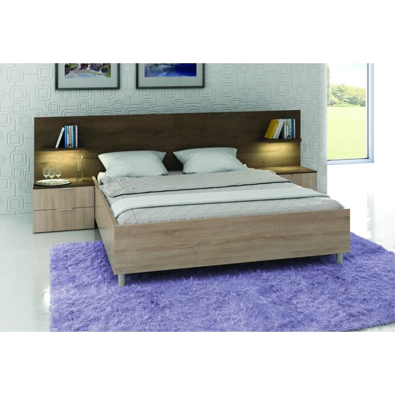 Łóżko CARMEN z szafkami nocnymi