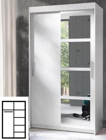 Wysoka szafa NERO (216 cm) z lustrzanym frontem