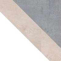 biały + dąb + beton