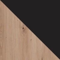dąb artisan + raw steel