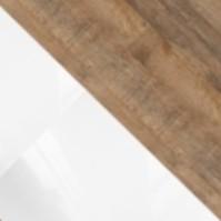 Biały/biały połysk + Sandal Oak