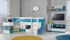 Łóżko piętrowe w niewielkim pokoju